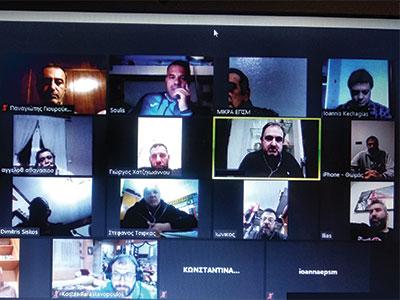 Πραγματοποιήθηκε η πρώτη τηλεδιάσκεψη της ΕΠΣΜ με τα σωματεία της