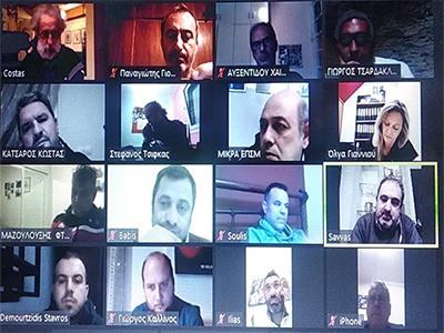 Πραγματοποιήθηκε η δεύτερη τηλεδιάσκεψη της ΕΠΣΜ με τα σωματεία της